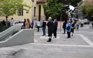 Ουρές για το rapid test για τον κορονοϊό στην Κοζάνη μετά το lockdown