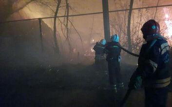 Κόλαση φωτιάς με 8 νεκρούς στην ανατολική Ουκρανία
