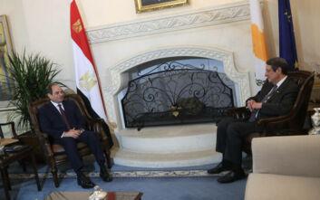 Συνάντηση Αναστασιάδη - Σίσι: Πολιτική βούληση για ανάπτυξη των σχέσεων Κύπρου - Αιγύπτου