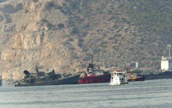 Σύγκρουση πλοίων στον Πειραιά: Στο Ναύσταθμο της Σαλαμίνας ρυμουλκήθηκε το «Καλλιστώ»