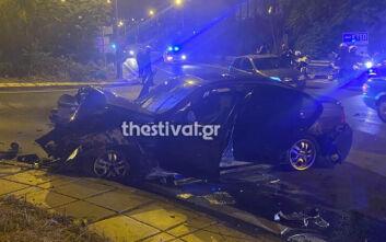 Κινηματογραφική καταδίωξη κλεμμένου αυτοκινήτου στη Θεσσαλονίκη: Ο οδηγός τράκαρε και τραυματίστηκε σοβαρά