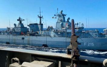 Εντυπωσιακές εικόνες από τη συνεκπαίδευση Πολεμικού Ναυτικού Ελλάδας και Γερμανίας