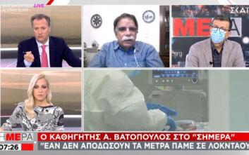 Βατόπουλος: Πιθανό να έχουμε πάνω από 2.000 κρούσματα το Σαββατοκύριακο - Ως γιατρός θα έλεγα να κλείσουν τα πάντα