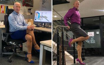 Οι φούστες δεν είναι μόνο για τις γυναίκες: Τι λέει ο πατέρας που κυκλοφορεί με ψηλοτάκουνα εδώ και 4 χρόνια
