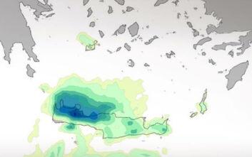 Καιρός: Συνεχίζεται η κακοκαιρία σε Κυκλάδες και Χανιά - Πού έπεσαν τα μεγαλύτερα ύψη βροχής