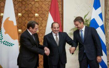 Τριμερής Κύπρου - Ελλάδας - Αιγύπτου σήμερα με φόντο την τουρκική επιθετικότητα
