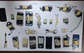 Μαχαίρια, σουβλιά και κινητά βρέθηκαν στις φυλακές του Κορυδαλλού και των Χανίων