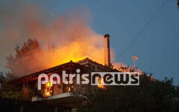 Συναγερμός για φωτιά σε σπίτι στον Άγιο Ηλία Πύργου – Οι ένοικοι πρόλαβαν να βγουν