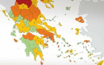 Αλλαγές από σήμερα στο χάρτη υγειονομικής ασφάλειας - Οι περιοχές που ανέβηκαν σε επίπεδο κινδύνου