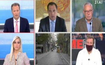 Χαμός στον αέρα με Άδωνι Γεωργιάδη και δημοσιογράφο: Είμαστε 12 φορές καλύτεροι από το Βέλγιο, το πανηγυρίζουμε