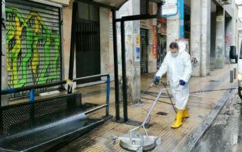 Μεγάλη δράση καθαρισμού και απολύμανσης περιμετρικά της Ομόνοιας