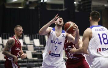 Προκριματικά Ευρωμπάσκετ 2022: Κατώτερη των περιστάσεων η Εθνική - Ήττα 66-77 από τη Λετονία