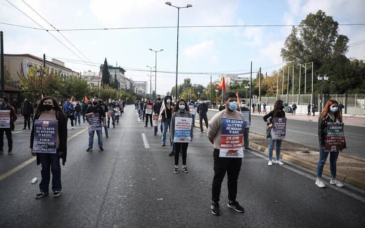 Πορεία του ΚΚΕ προς την Αμερικάνικη Πρεσβεία παρά την απαγόρευση – Δείτε τις εικόνες