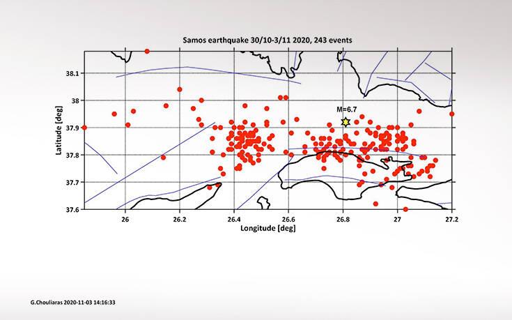 Τρέμει η γη στη Σάμο μετά τα 6,7 Ρίχτερ - 243 μετασεισμοί σε τέσσερις ημέρες