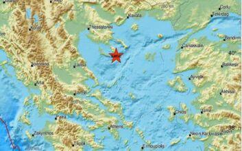Σεισμός τώρα νότια της Χαλκιδικής