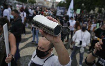 Πορτογαλία: Διαδήλωση εστιατόρων και εργαζομένων κατά του lockdown