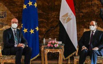 Συνάντηση Αλ Σίσι και Σαρλ Μισέλ: Καταδίκη τον τρομοκρατικών επιθέσεων και των μονομερών ενεργειών στην Αν. Μεσόγειο
