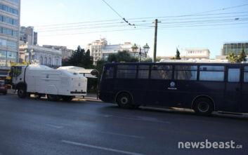 Απεργία σήμερα: Ισχυρές αστυνομικές δυνάμεις στο κέντρο της Αθήνας