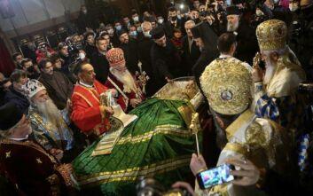 Χαμός σε ναό στο Βελιγράδι για τον Πατριάρχη Ειρηναίο