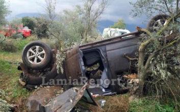 Κάτω Τιθορέα: Σοβαρό το τροχαίο με αγροτικό να ανατρέπεται - Τραυματίας ο οδηγός