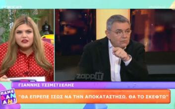 Πάμε Δανάη: Εκνευρισμός στο πλατό για συνέντευξη Χατζή με Τσιμιτσέλη- «Ποιο Bachelor; Ποιο Big Brother;»