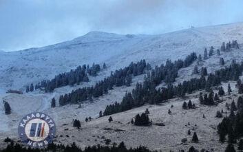 Καλάβρυτα: Έπεσαν τα πρώτα χιόνια στα ορεινά - Δείτε εικόνες