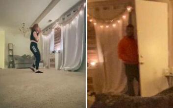 Χόρευε στο σπίτι της και είδε τον stalker της να ανοίγει την πόρτα μπροστά της - Δείτε το σοκαριστικό βίντεο