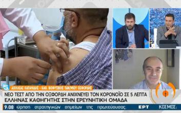 Πώς θα λειτουργεί το ταχύτατο τεστ από την Οξφόρδη για τον κορονοϊό – Ο Έλληνας καθηγητής στην ερευνητική ομάδα εξηγεί