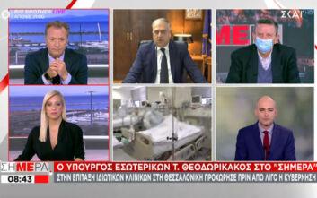 Θεοδωρικάκος: Με 60 νεκρούς την ημέρα πρέπει να είμαστε πάρα πολύ φειδωλοί για τη λήξη του lockdown