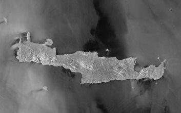 Η εντυπωσιακή φωτογραφία της Κρήτης που τραβήχτηκε από τον ευρωπαϊκό δορυφόρο Copernicus Sentinel-1
