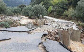 Μεγάλες καταστροφές στην ανατολική Κρήτη από τις έντονες βροχοπτώσεις