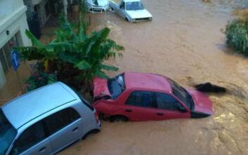 Κακοκαιρία στην Κρήτη: Πνίγηκαν στη λάσπη στη Χερσόνησο - Παρασύρθηκαν αυτοκίνητα