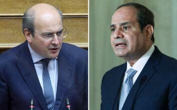 Συνάντηση Χατζηδάκη - Φατάχ αλ Σίσι: East Med Gas Forum και οριοθέτηση ΑΟΖ στο προσκήνιο