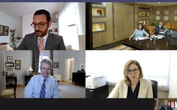 Ελλάδα 2021: Η Γιάννα Αγγελοπούλου είχε τηλεδιάσκεψη με τον Αμερικανό πρέσβη