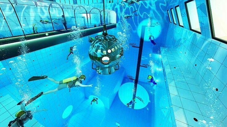 world s deepest indoor dive pool will be as deep as 15 story building  409200