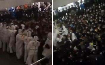 Εικόνες χάους σε αεροδρόμιο στη Σανγκάη όταν εργαζόμενος βρέθηκε θετικός στον κορονοϊό