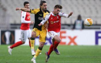 ΑΕΚ - Μπράγκα: 1-2 μειώνει στο 31' ο Ολιβέιρα