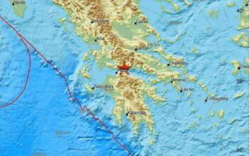 Σεισμός τώρα βορειοδυτικά του Αιγίου