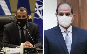 Θερμή συνάντηση Αλ Σίσι - Παναγιωτόπουλου στο Κάιρο