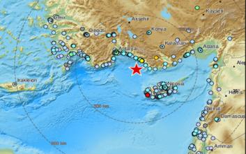Ισχυρός σεισμός στην Τουρκία
