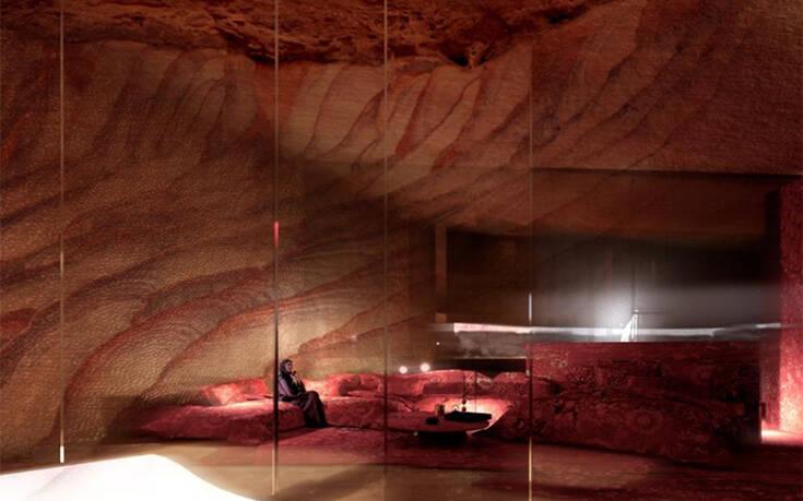 Το υπερπολυτελές υπόγειο ξενοδοχείο που βρίσκεται στα «σκαριά» στη Σαουδική Αραβία