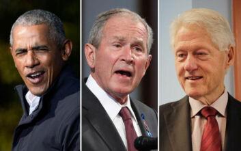 Ομπάμα, Μπους και Κλίντον έτοιμοι να εμβολιαστούν δημοσίως κατά του κορονοϊού για να δώσουν το παράδειγμα