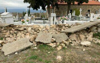 Ζημιές σε νεκροταφείο προκάλεσε ο σεισμός των 4,5 Ρίχτερ στη Θήβα