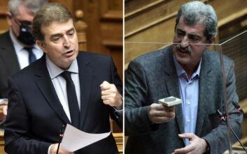 """Κόντρα Πολάκη - Χρυσοχοΐδη στη Βουλή: «Δεν μπορούμε να ρίχνουμε """"βόμβες"""" χωρίς στοιχεία και αποδείξεις»"""
