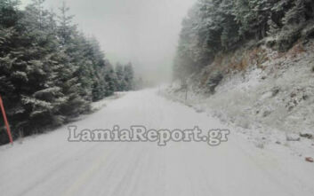 Ξεκίνησε η επέλαση του χιονιά σε Φθιώτιδα και Ευρυτανία