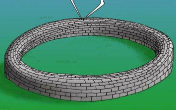 Αρκάς: Το νέο του σκίτσο με την άκρη του τούνελ