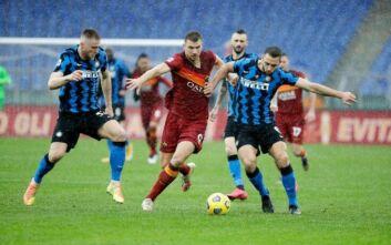 Serie A: Στο -3 η Ίντερ μετά το 2-2 με τη Ρόμα