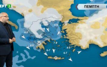 Σάκης Αρναούτογλου: Έντονα φαινόμενα, χιόνια και καταιγίδες - Η τάση του καιρού έως τις 22 Ιανουαρίου