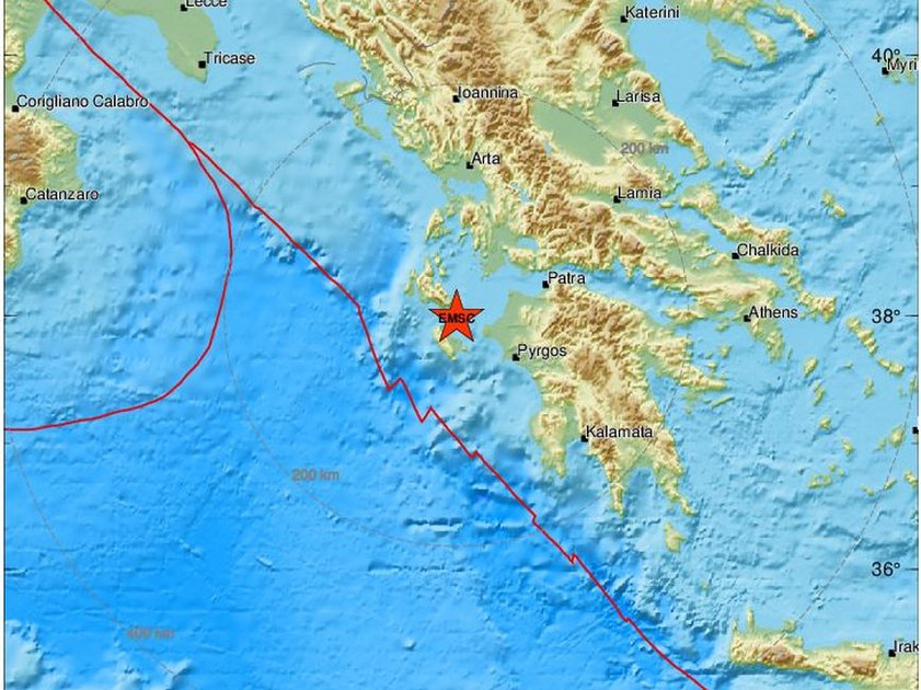 Ισχυρός σεισμός στη Ζάκυνθο
