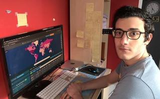 Ο 22χρονος Έλληνας που δημιούργησε μια ιστοσελίδα με στοιχεία για τον κορονοϊό και τους εμβολιασμούς ανά χώρα